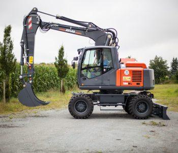 Atlas_180_Zero Tail Swing_Mobile Excavator